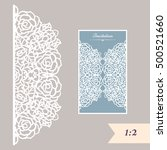 wedding invitation or greeting... | Shutterstock .eps vector #500521660