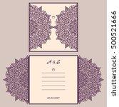 abstract wedding cutout... | Shutterstock .eps vector #500521666