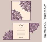 abstract wedding cutout... | Shutterstock .eps vector #500521669