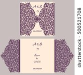 wedding invitation or greeting... | Shutterstock .eps vector #500521708