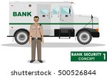 bank security concept. detailed ... | Shutterstock .eps vector #500526844
