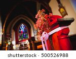 catholic church interior with... | Shutterstock . vector #500526988