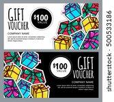 vector gift voucher template... | Shutterstock .eps vector #500533186