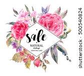 classical vintage floral sale... | Shutterstock .eps vector #500540824