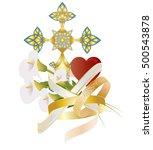 wedding or matrimony  christian ... | Shutterstock .eps vector #500543878