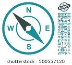 compass icon with bonus... | Shutterstock .eps vector #500557120