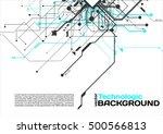 hi tech circuits industrial... | Shutterstock .eps vector #500566813