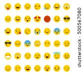 set of emoticons  emoji... | Shutterstock .eps vector #500567080