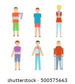 trauma accident fracture human... | Shutterstock .eps vector #500575663
