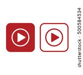 play button vector icon. red... | Shutterstock .eps vector #500584534