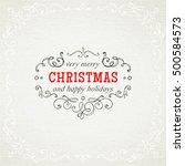 christmas hand drawing frames | Shutterstock .eps vector #500584573