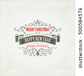 christmas hand drawing frames | Shutterstock .eps vector #500584576