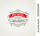 christmas hand drawing frames | Shutterstock .eps vector #500584609