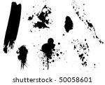 splatter set | Shutterstock .eps vector #50058601