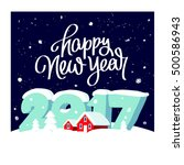 quote happy new year. great... | Shutterstock .eps vector #500586943