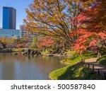 tokyo  japan   dec 9  autumn... | Shutterstock . vector #500587840