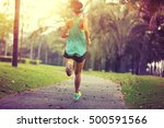 healthy lifestyle young sporty... | Shutterstock . vector #500591566