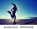 healthy lifestyle young fitness ...   Shutterstock . vector #500591668