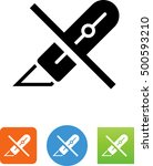 utility knife   do not cut icon | Shutterstock .eps vector #500593210