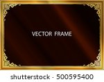 decorative vintage frames and... | Shutterstock .eps vector #500595400