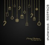 christmas background . flat... | Shutterstock .eps vector #500595628