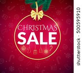 christmas sale design template... | Shutterstock .eps vector #500595910