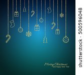 christmas background . flat... | Shutterstock .eps vector #500596048
