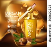 argan oil serum skin care... | Shutterstock .eps vector #500602828
