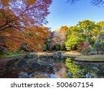 tokyo  japan   dec 3  autumn...   Shutterstock . vector #500607154