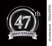 47th silver anniversary logo... | Shutterstock .eps vector #500610934