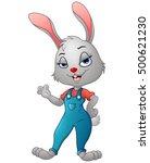 vector illustration of cartoon... | Shutterstock .eps vector #500621230