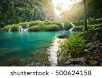 mysterious mayan jungle in the... | Shutterstock . vector #500624158