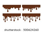 vector set of brown liquid... | Shutterstock .eps vector #500624260