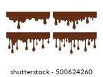 vector set of brown liquid... | Shutterstock .eps vector #500624260
