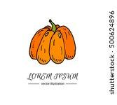 hand drawn doodle autumn... | Shutterstock .eps vector #500624896
