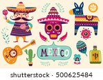 mexican symbols | Shutterstock .eps vector #500625484
