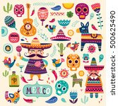 mexican symbols | Shutterstock .eps vector #500625490