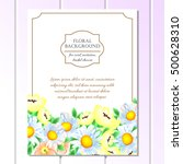 invitation with floral... | Shutterstock .eps vector #500628310