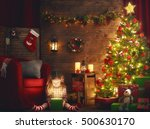 merry christmas and happy... | Shutterstock . vector #500630170