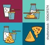 assortment of different dairy... | Shutterstock .eps vector #500639374