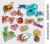 big set of girl fashion patch ... | Shutterstock .eps vector #500640784