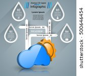 3d icon wheather infographic.... | Shutterstock .eps vector #500646454