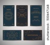 set of art deco vintage retro... | Shutterstock .eps vector #500647168