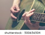 close up man's hand playing the ... | Shutterstock . vector #500656504