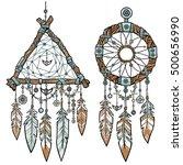 round and triangular... | Shutterstock .eps vector #500656990