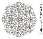mandala. oriental ornament... | Shutterstock . vector #500657359