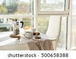 early morning french home... | Shutterstock . vector #500658388