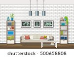 illustration of interior... | Shutterstock .eps vector #500658808