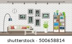 illustration of interior... | Shutterstock .eps vector #500658814