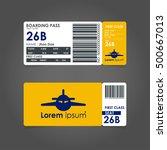 boarding pass. airline boarding ... | Shutterstock .eps vector #500667013
